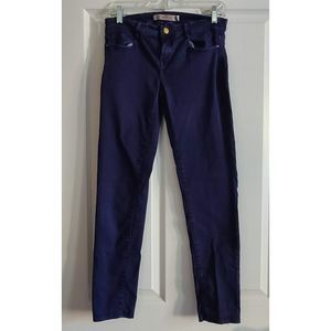 ZARA Purple Denim Skinny Jeans Size 9